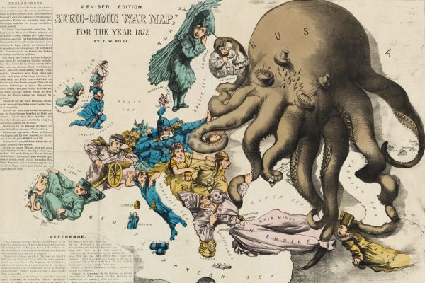 Serio-Comic War Map For The Year 1877. Fred W. Rose. 1877. Persuasive Maps: PJ Mode Collection