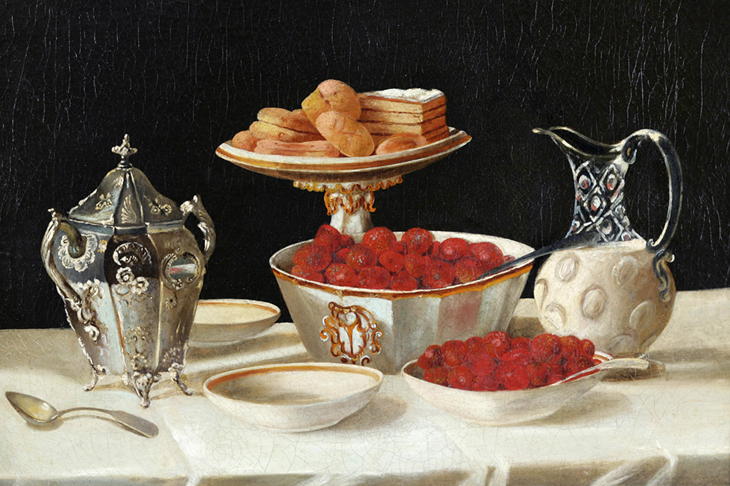 Source: https://commons.wikimedia.org/wiki/File:John_F._Francis_(attrib)_-_Still_Life_of_Strawberries_and_Cream.jpg