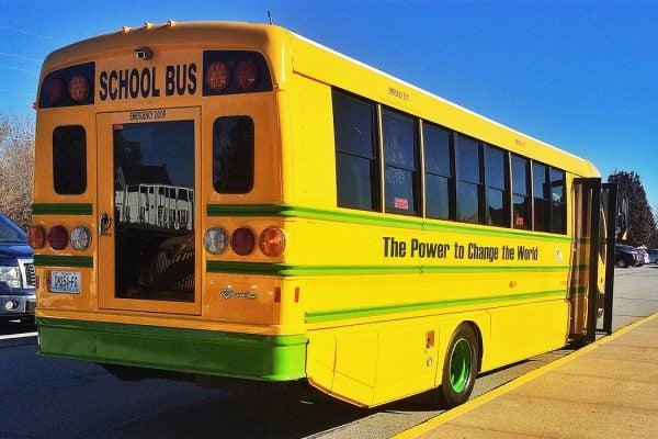 An electric school bus