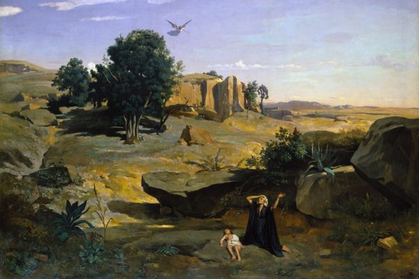 Hagar in the Wilderness by Camille Corot, 1835
