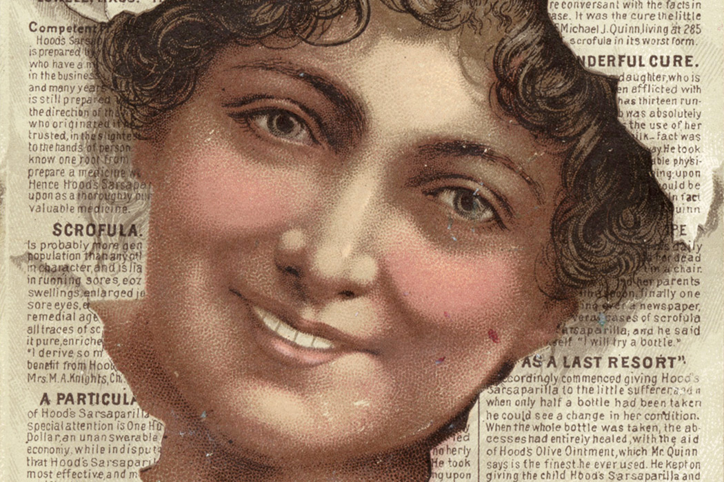 A 19th-century advertisement for Hood's Tooth Powder