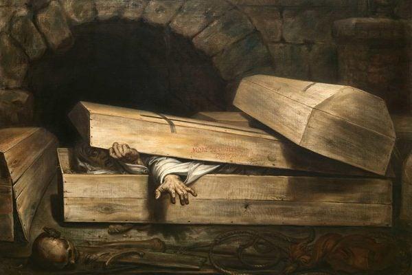 The Premature Burial by Antoine Wiertz