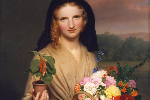 The Flower Girl by Charles Cromwell Ingham, 1846