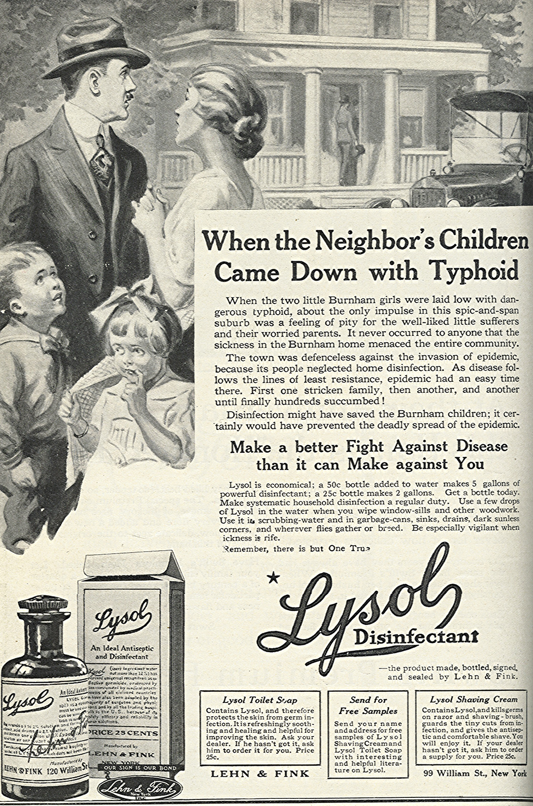 Lysol Disinfectant advertisement from the March 1918 issue of Good Housekeeping magazine
