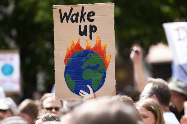 A climate protest