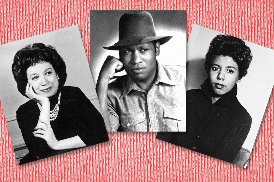 Alice Childress, Paul Robeson and Lorraine Hansberry