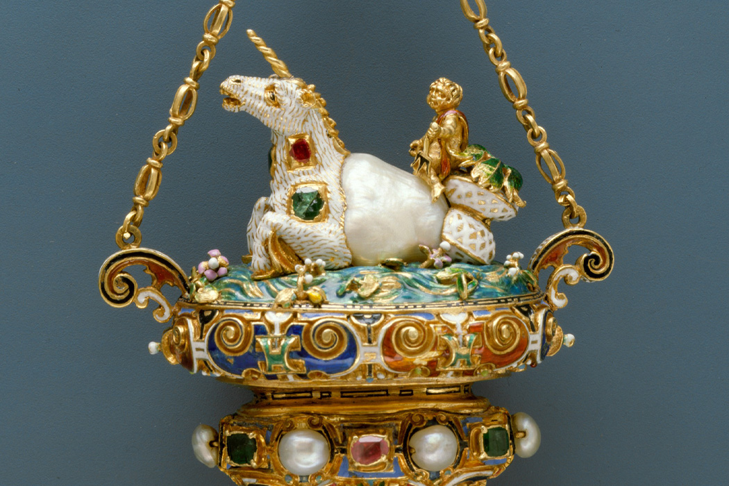 Pendant with a Triton Riding a Unicorn-like Sea Creature ca. 1870–95