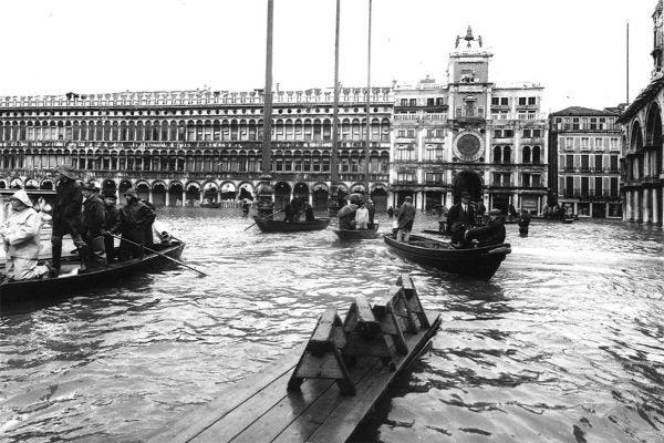 Piazza San Marco in Venice, November 4, 1966
