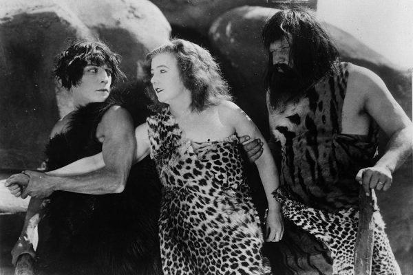 Buster Keaton, Margaret Leahy and Wallace Beery in a scene from The Three Ages, 1923