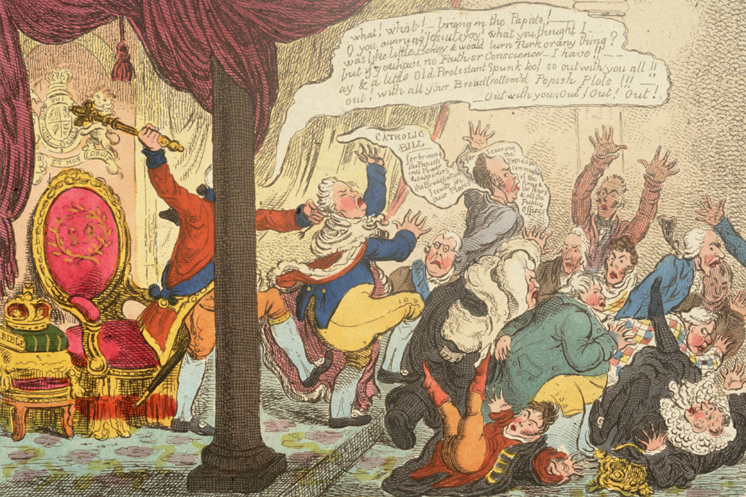 An illustration by James Gillray, 1807