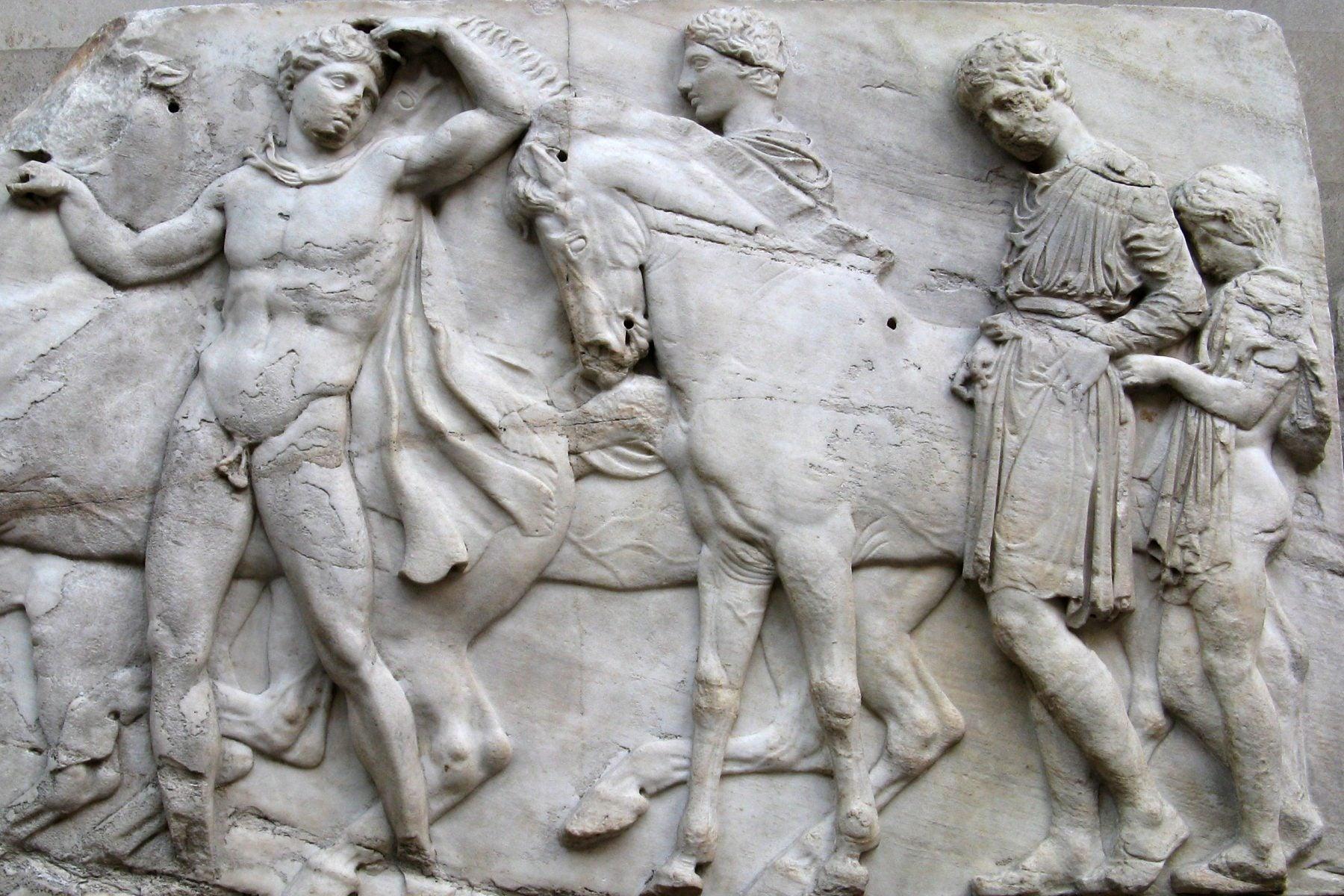 Two Horsemen, Elgin Marbles at the British Museum