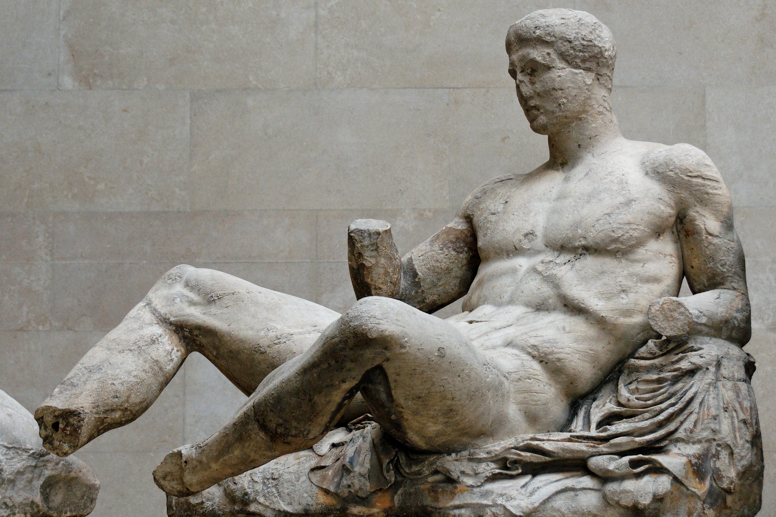 Reclining Dionysos, from Parthenon east pediment, ca. 447–433 BC.