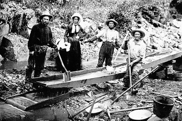 Women and men in the California Gold Rush, 1850