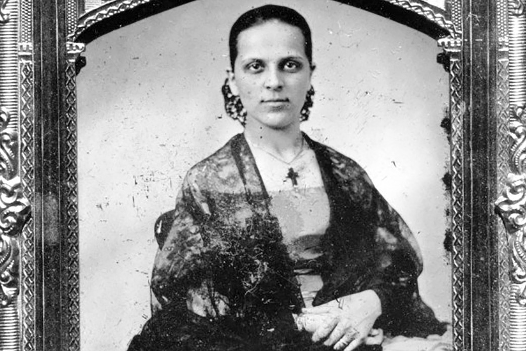 Portrait of a Californio woman during the Gold Rush, 1850