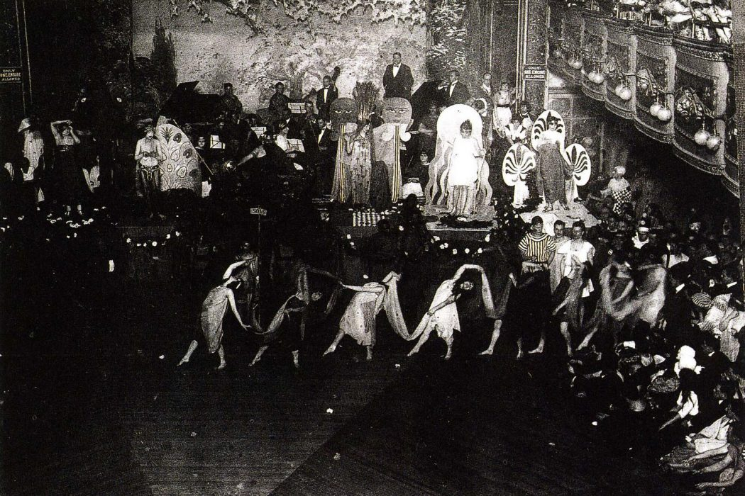 A drag ball in Webster Hall in Greenwich Village in the 1920's