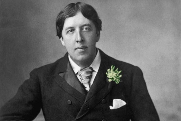 Oscar Wilde with a green carnation