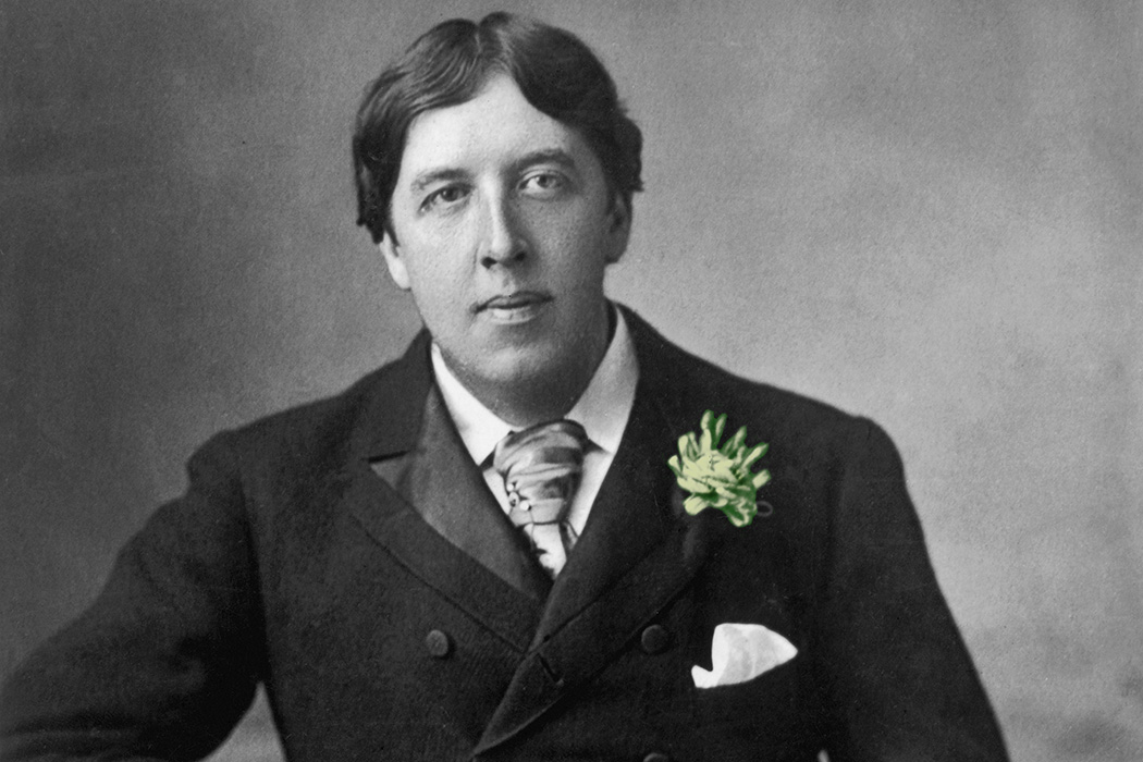 Oscar Wilde with a green carnation
