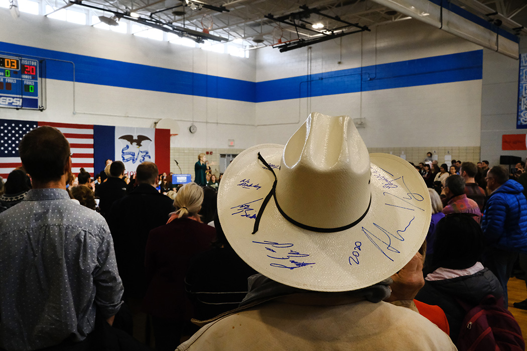 A town hall event in Iowa.