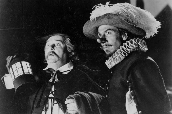Lloyd Corrigan (left) and José Ferrer in Cyrano de Bergerac