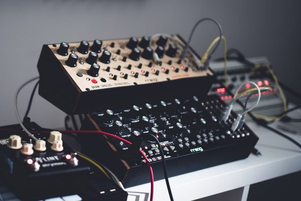 A Moog synthesizer