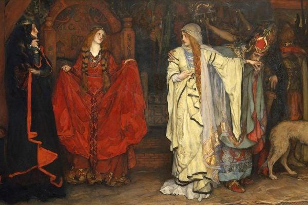King Lear, Act I, Scene I by Edwin Austin Abbey