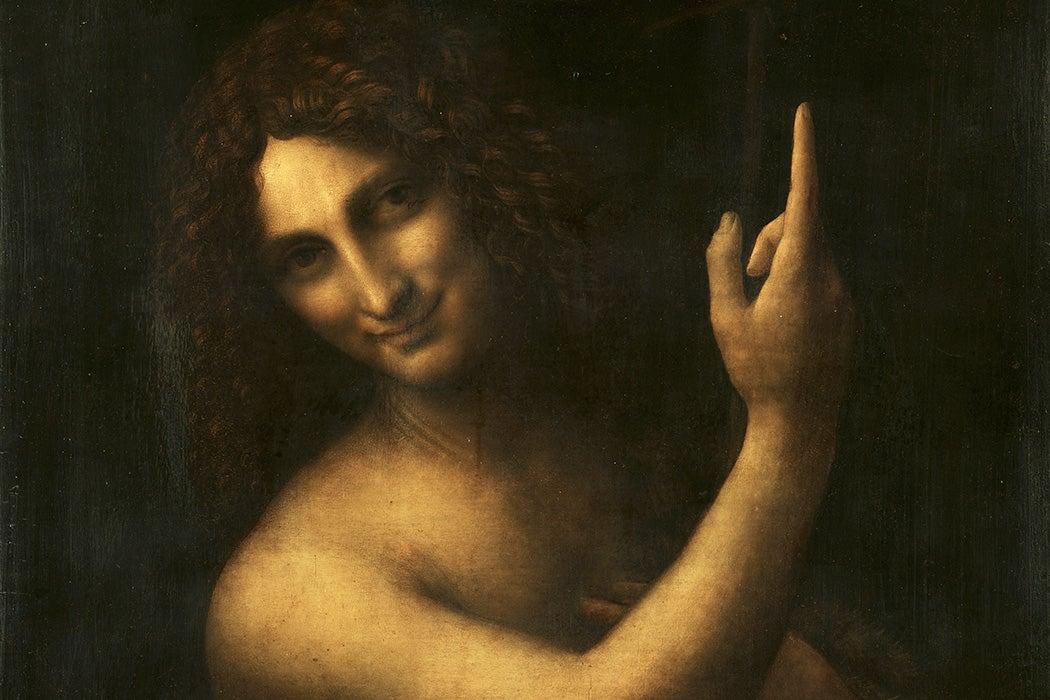 Source: https://en.wikipedia.org/wiki/File:Leonardo_da_Vinci_-_Saint_John_the_Baptist_C2RMF_retouched.jpg