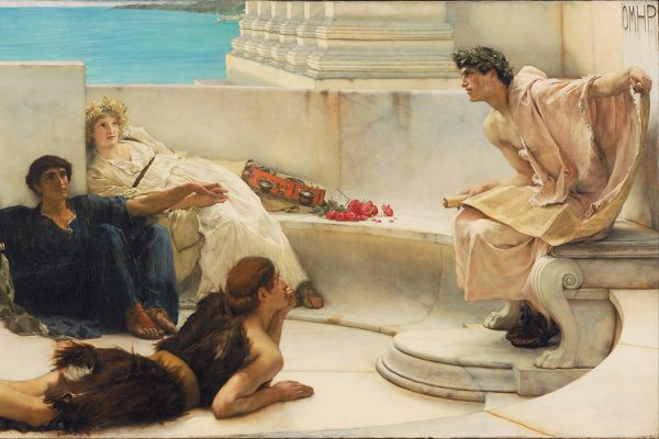 A Reading from Homer by Lawrence Alma Tadema, 1885