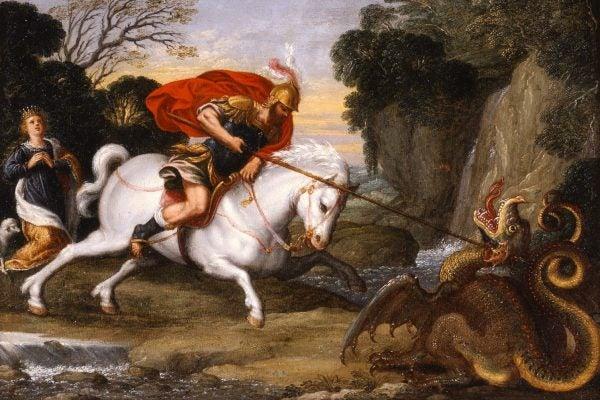 Saint George Defeating the Dragon by Johann König, c. 1630