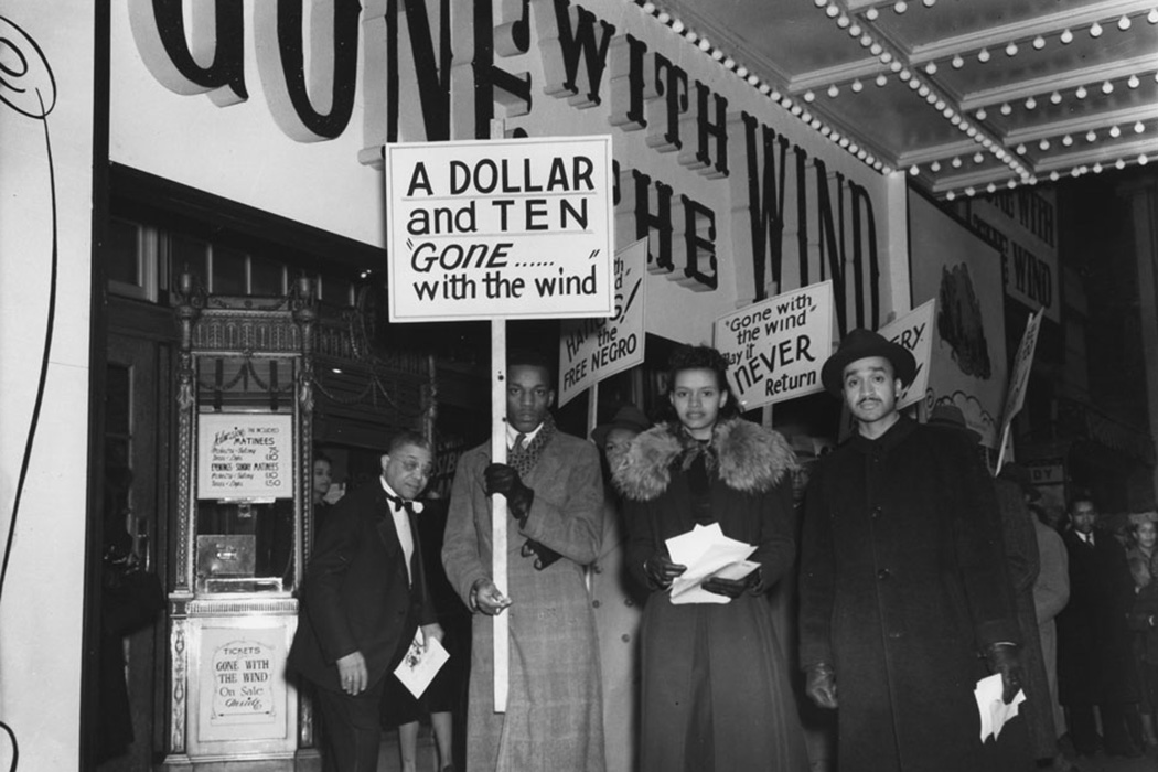 A protest of Gone With the Wind organized by the D.C. chapter of the National Negro Congress