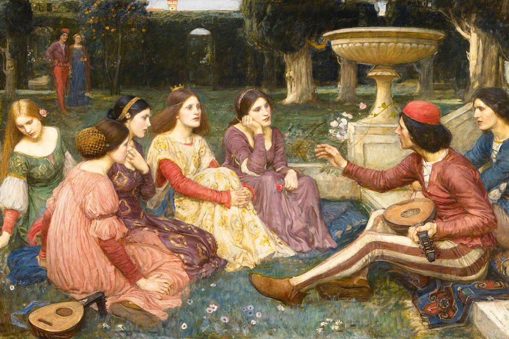 The Decameron by John William Waterhouse