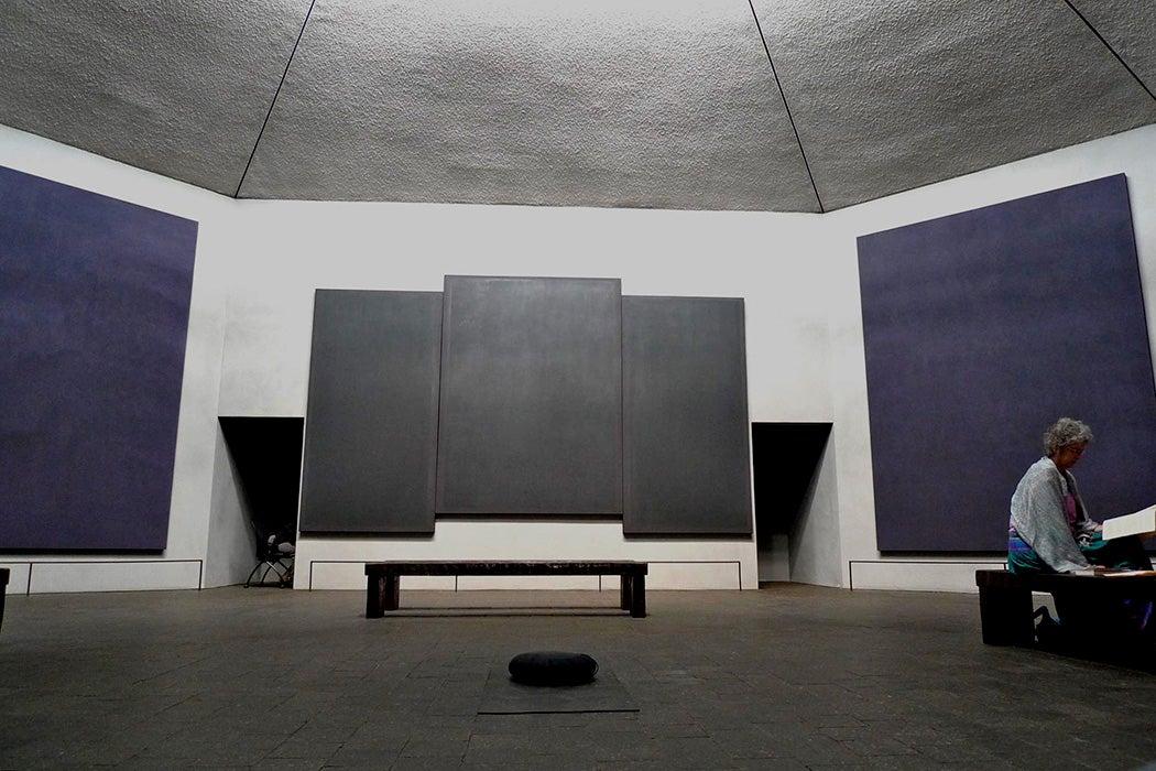 Inside the Rothko Chapel