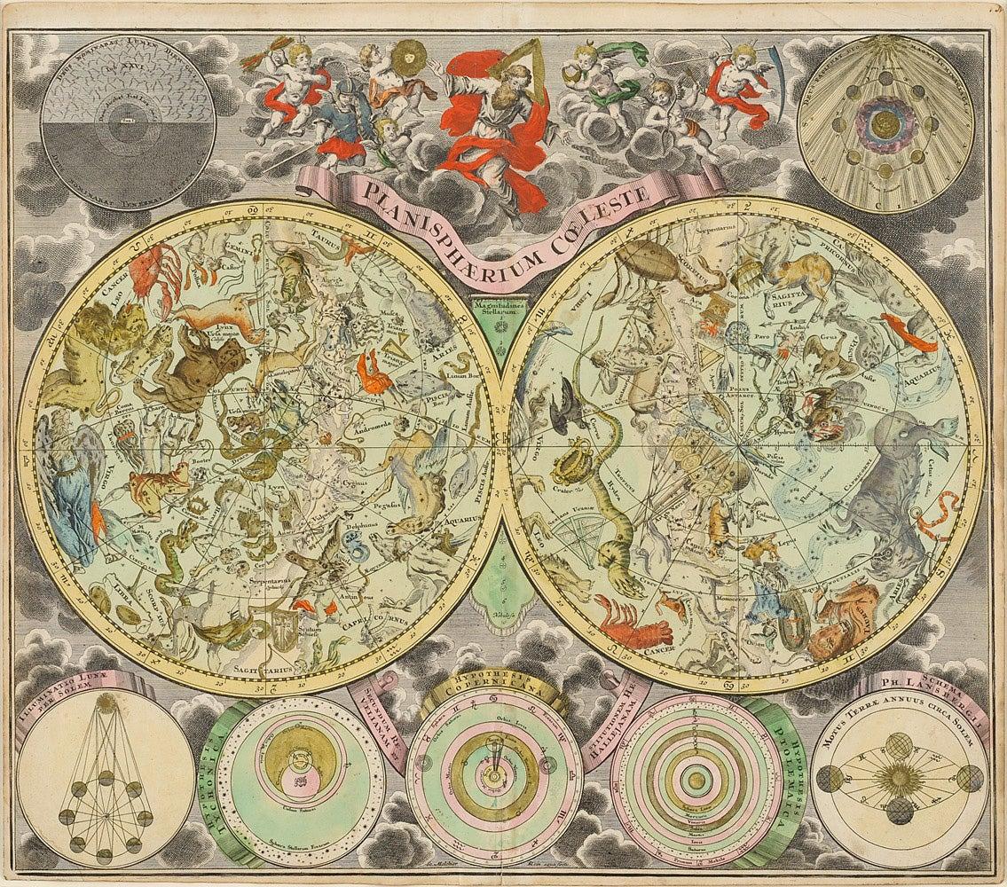 Planisphaerium coeleste, c. 1730