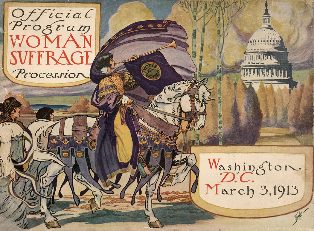Official program for the Woman suffrage procession, Washington, D.C. March 3, 1913
