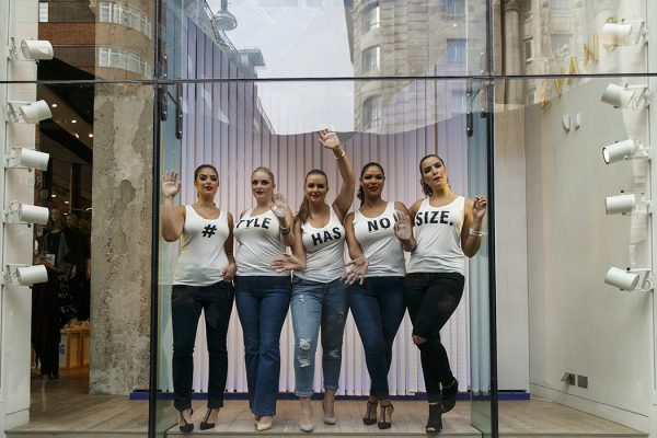 A live window display to celebrate UK Plus Size Fashion Week on September 3, 2015 in London, England.