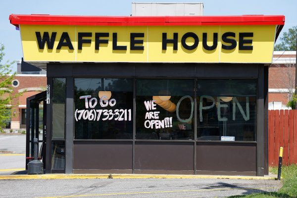 A Waffle House in Augusta, Georgia on March 30, 2020