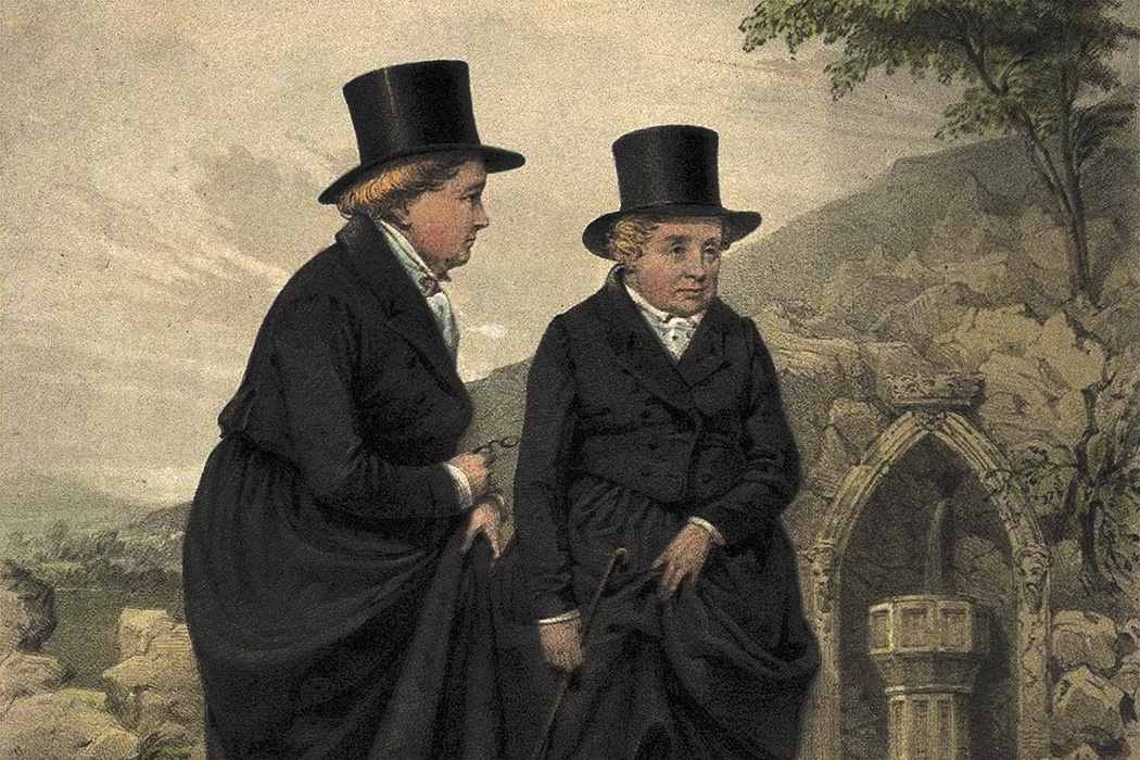 Sarah Ponsonby and Lady Eleanor Butler, known as the the Ladies of Llangollen