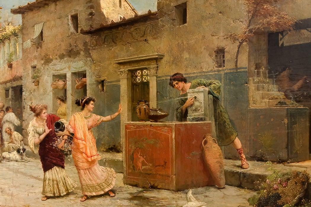 Roman Street Scene by Ettore Forti