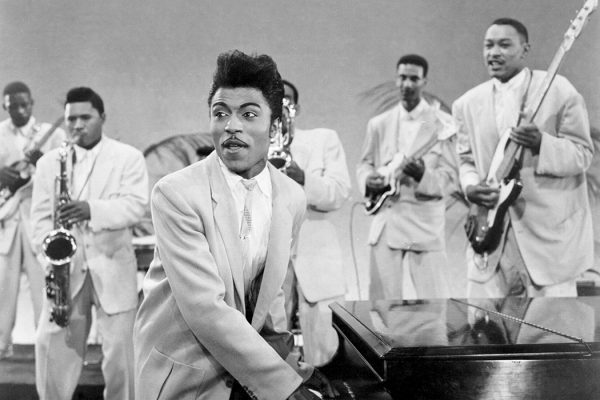Musician Little Richard performs onstage in circa 1956.