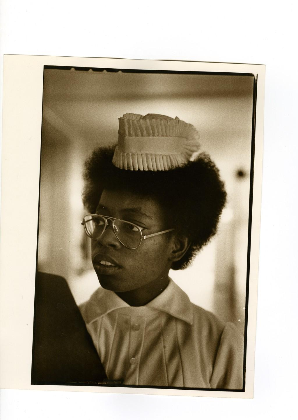 A portrait of a graduate nurse, 1970s