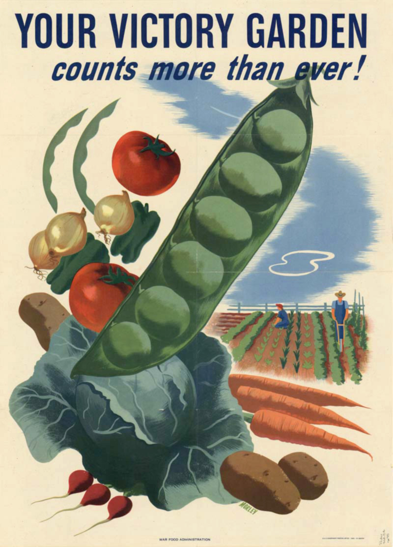 A poster for Victory Gardens