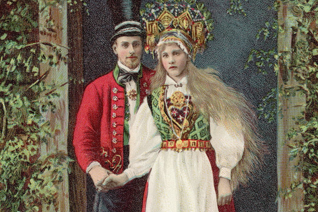 A Swedish couple c. 1850
