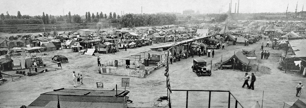 Overview of Bonus Army camp, 1932
