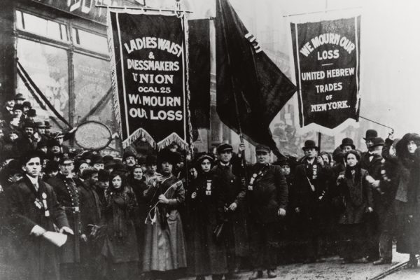 Demonstration of Protest and Mourning for Triangle Shirtwaist Factory Fire of March 25, 1911, 04/05/1911