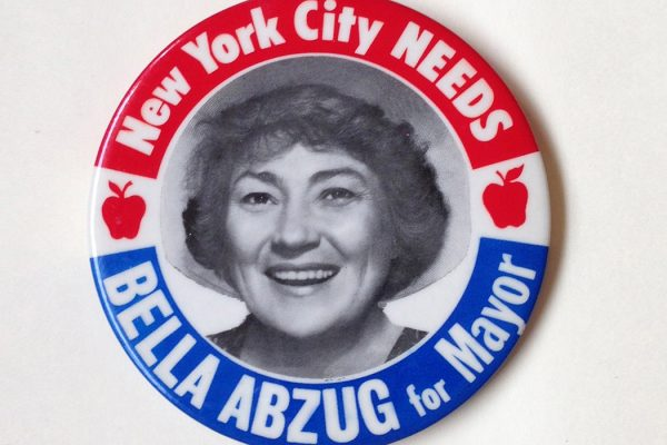 Bella Abzug for Mayor Button, New York City 1977