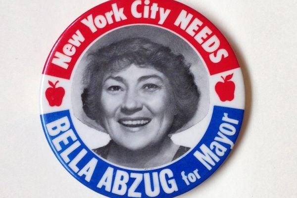 Bella Abzug for Mayor Button, New York City 1977