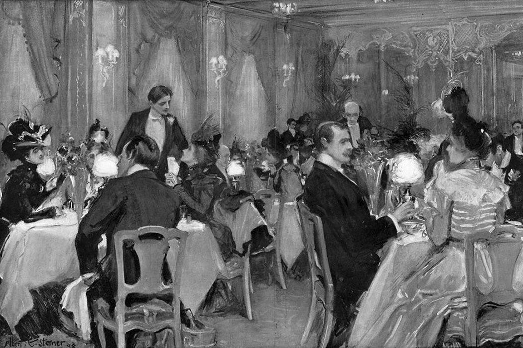 Supper at Delmonico's, New York 1898