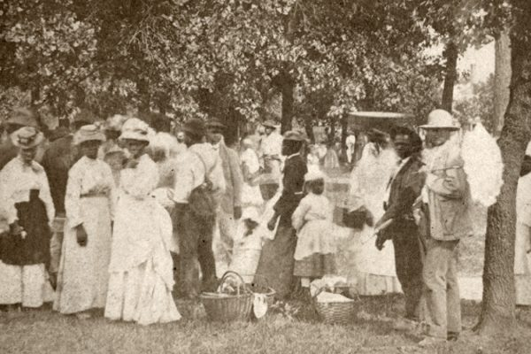 A Fourth of July picnic, possibly in South Carolina, 1874, by J. A. Palmer
