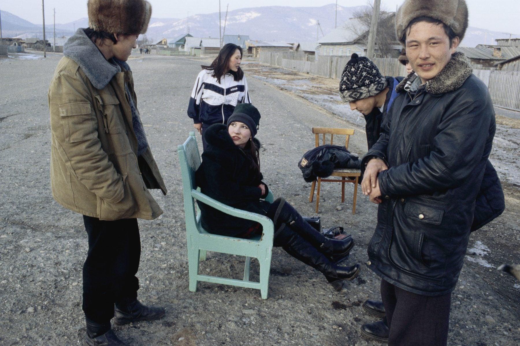 Teenagers in a Siberian village near Lake Baikal