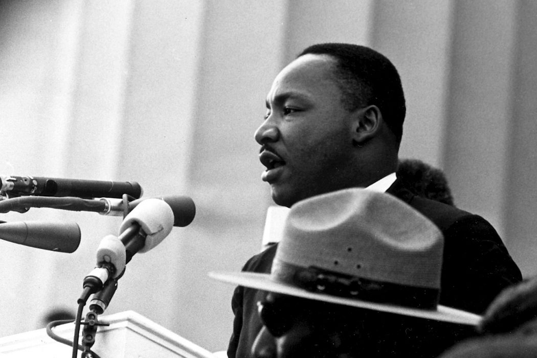 Dr. Martin Luther King during the March on Washington on August 28, 1963