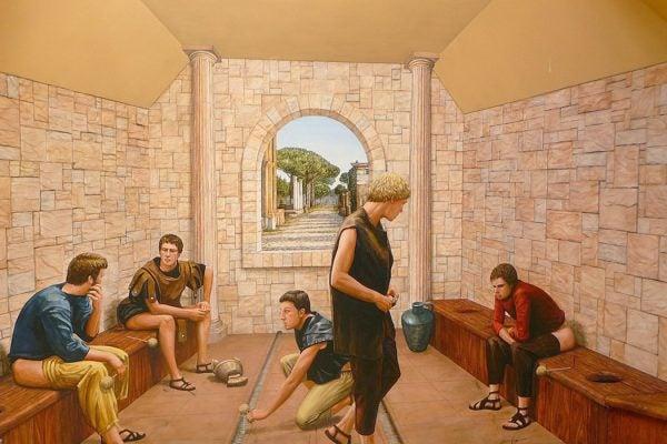 An Ancient Roman latrine